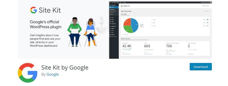 WordPress plugin Site Kit by Google.