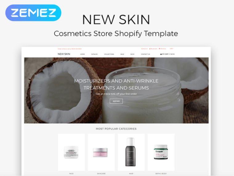 new skin website theme