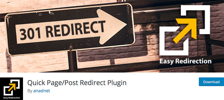 Wordpress Quick Page/Post Redirect Plugin.