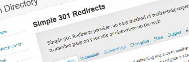 Wordpress plugin Simple 301 Redirects.