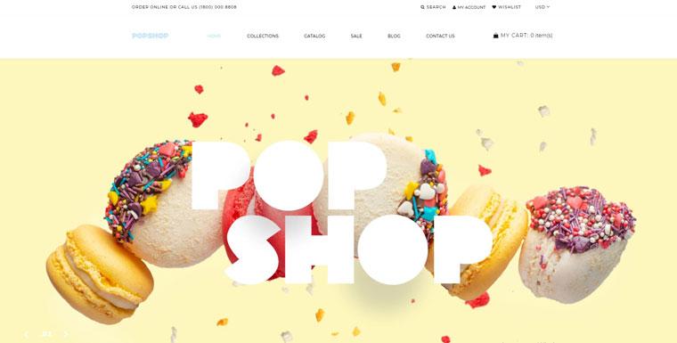 Popshop - Sweet Shop Clean Shopify Theme.