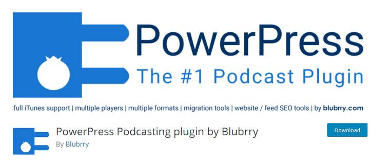 WordPress plugin PowerPress Podcasting.