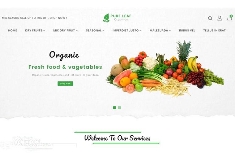 Pureleaf Organic Shopify Theme.