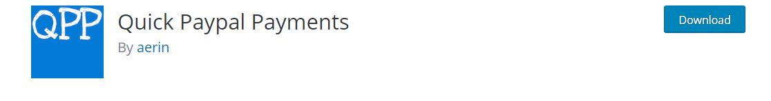 WordPress plugin Quick Paypal Payments.