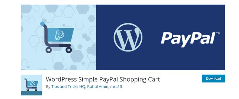 WordPress Simple PayPal Shopping Cart plugin.