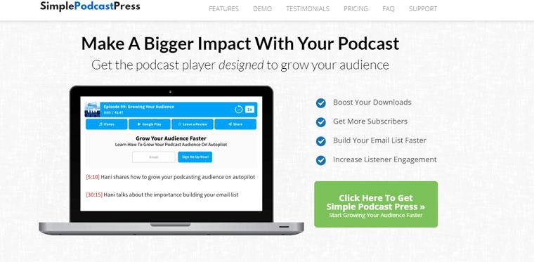 WordPress Simple Podcast Press.