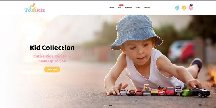 Tomkiz - Kids Clothing & Toys Store Shopify Theme.