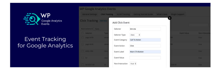 WordPress plugin WP Google Analytics Events.