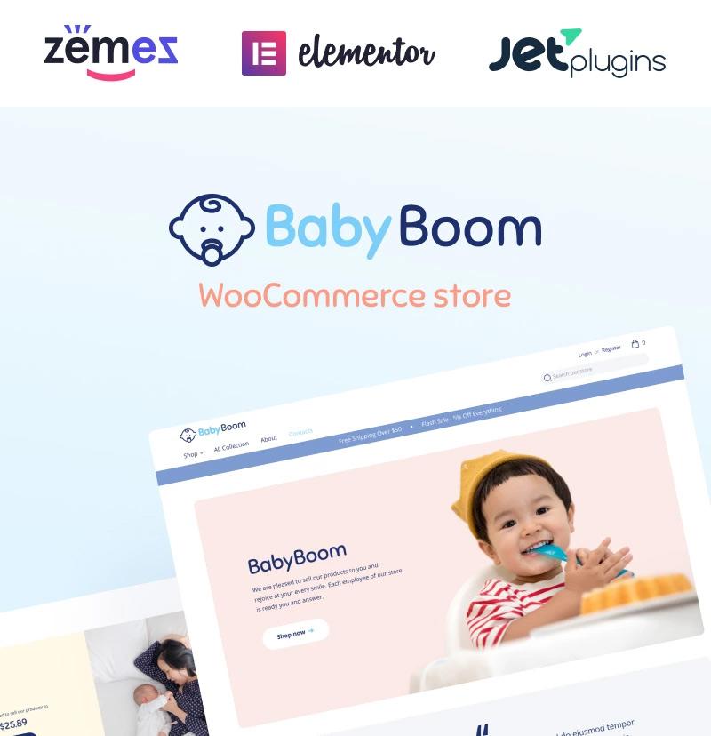 #11 BabyBoom - Cute And Modern Baby WooCommerce Theme