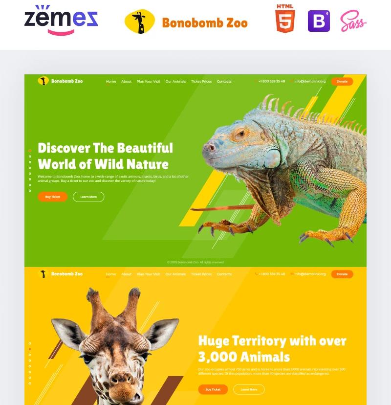 #2 Bonobomb - Full Animated Zoo Website Template