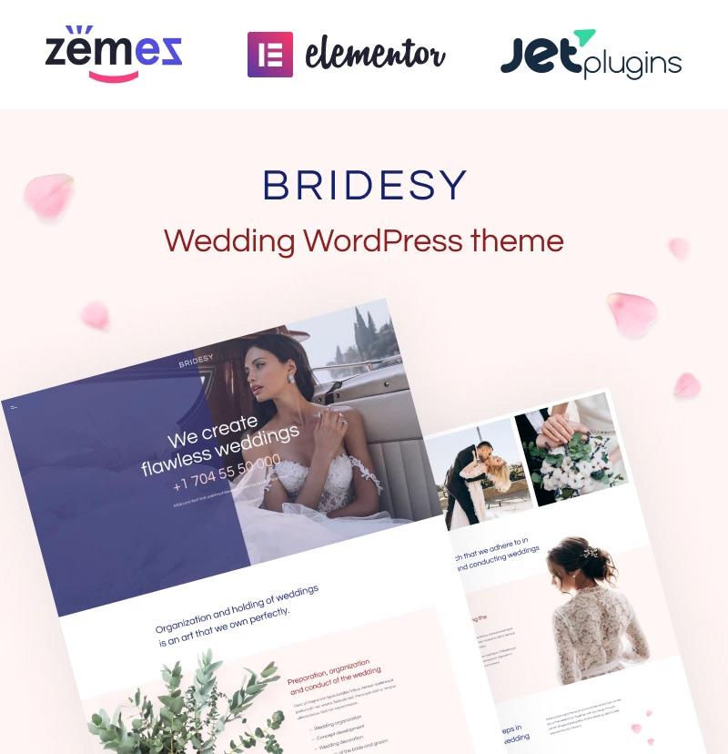 #6 Bridesy - Tender And Neat Wedding WordPress Theme