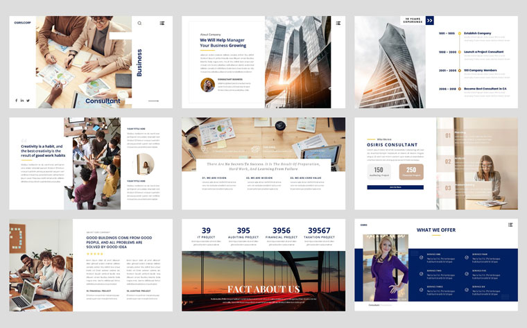 Business - Consultant Finance PowerPoint Template.