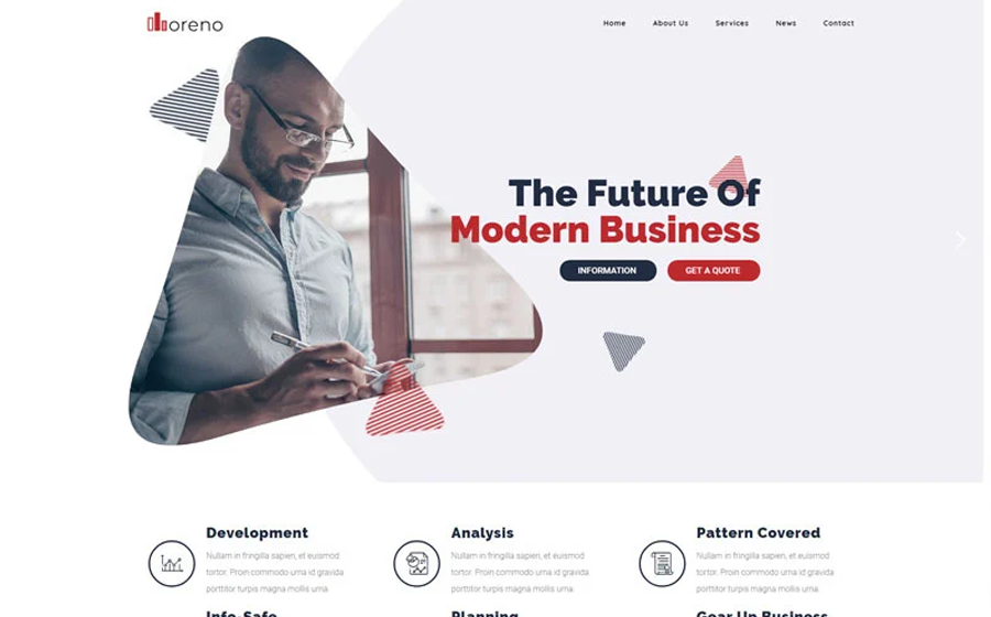 Moreno Modern Business WordPress theme