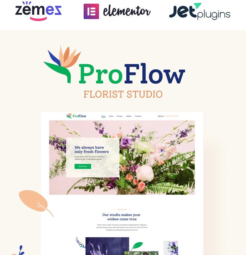 #7 ProFlow - Contemporary And Minimalistic Florist WordPress Theme