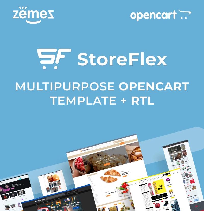 #3 StoreFlex - Responsive Multipurpose OpenCart Template + RTL