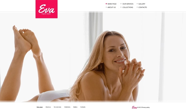 Lingerie Adult Web Design Template