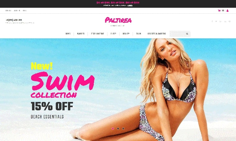 adult web design Lingerie MotoCMS Ecommerce Template