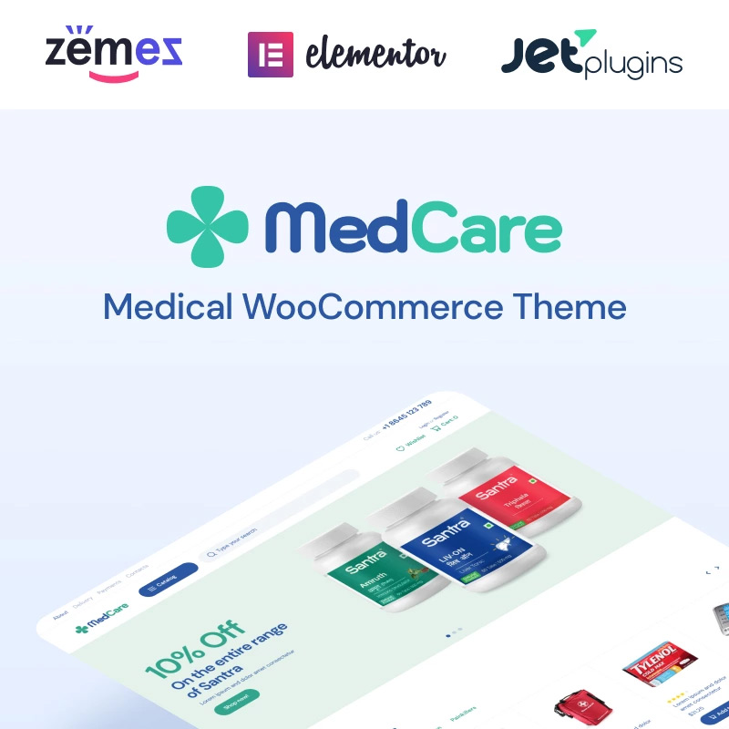 Soft and Responsive Pharmacy WooCommerce Theme