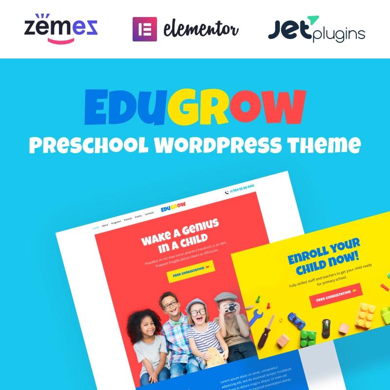 Preschool WordPress Theme with a Vivid Design WordPress Theme