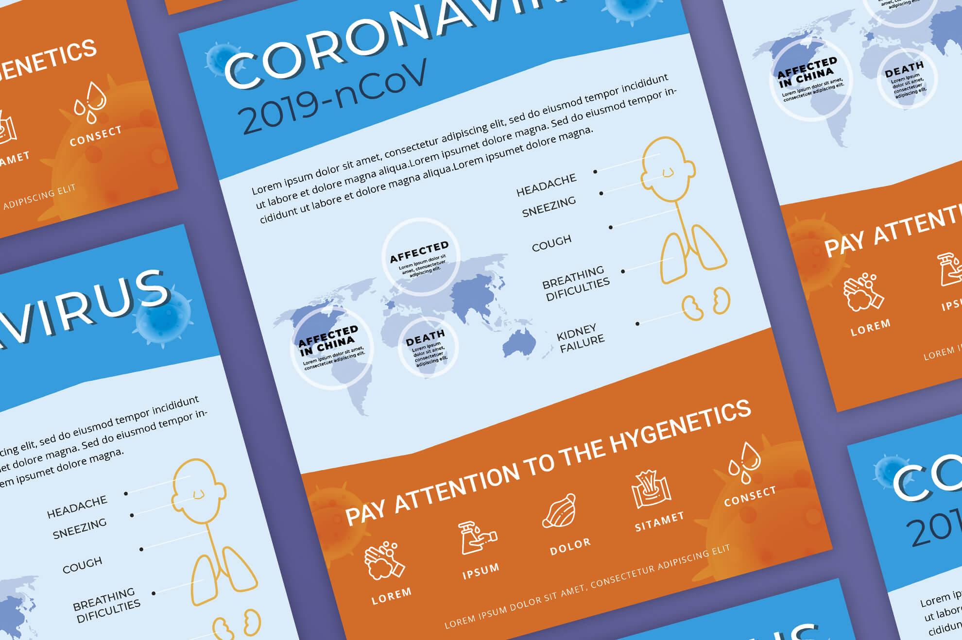 Free Coronavirus Prevention Flyer Corporate Identity Template