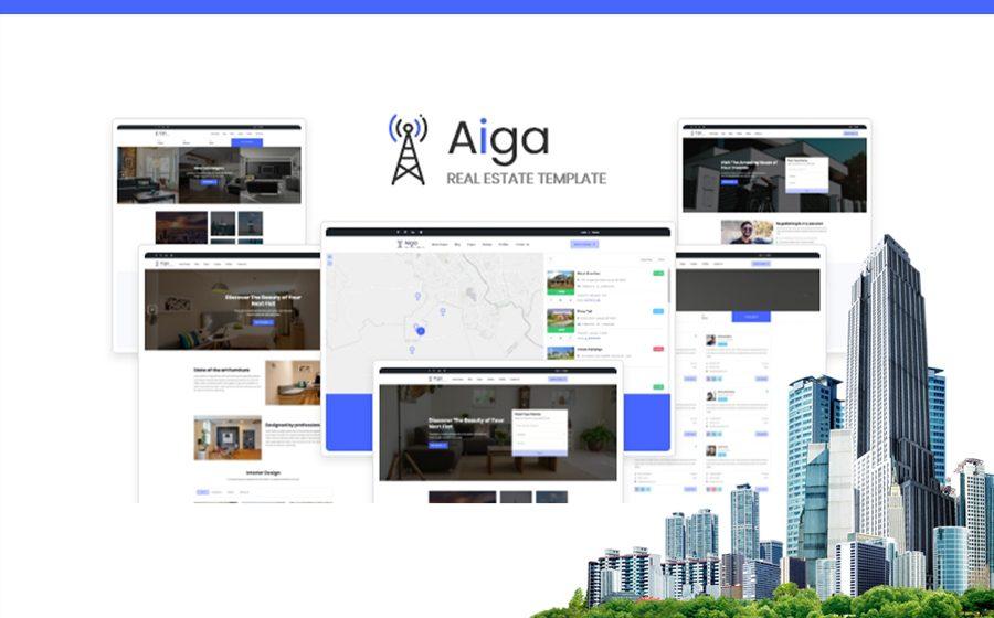 aiga-real-estate-html5-website-template