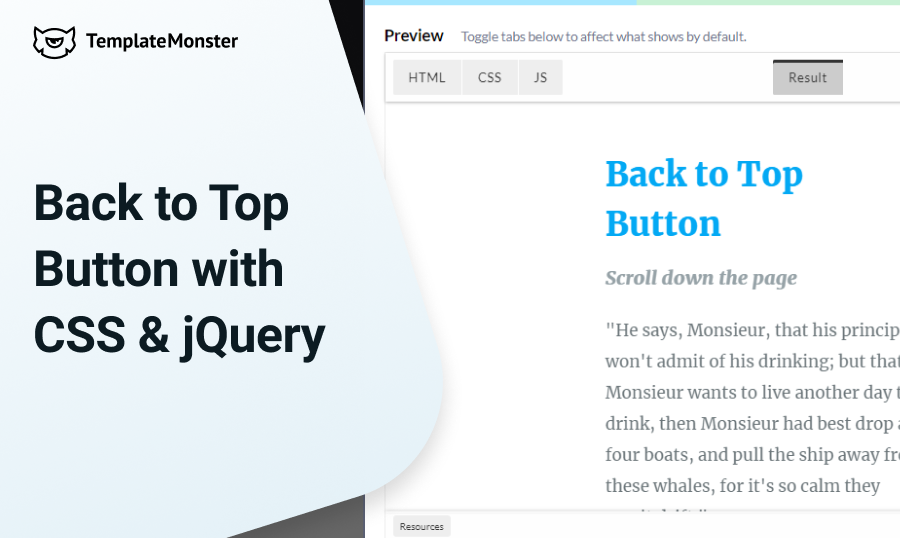 back to top jquery
