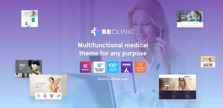 Premium BeClinic WordPress Theme