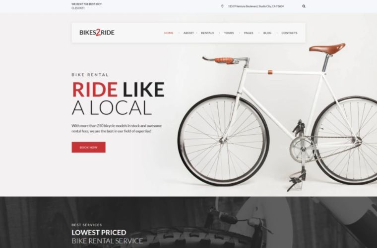 Bikes2Ride – Cycling WordPress Theme
