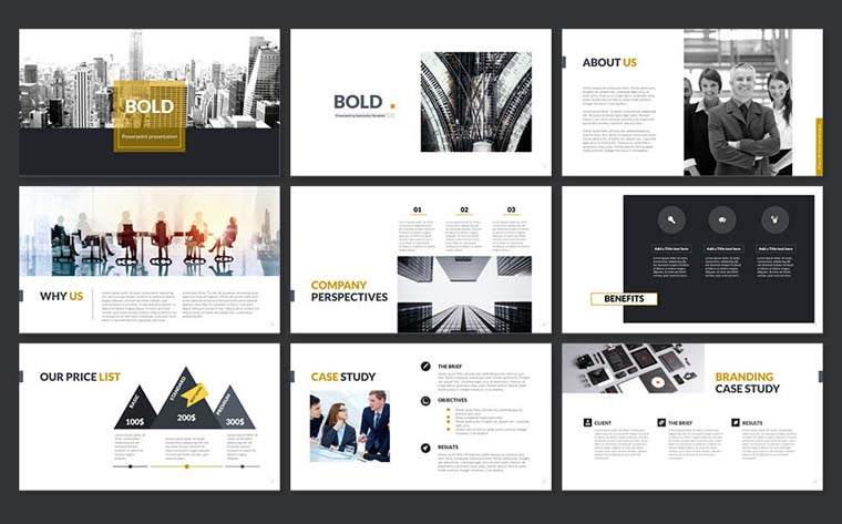 Bold - PowerPoit Presentation Template.