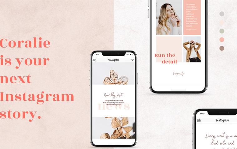 Coralie - Instagram Stories Social Media Template.