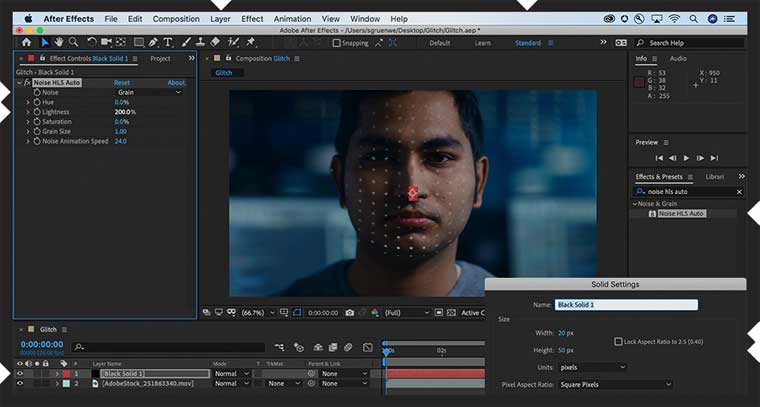 Glitch Effect in After Effects step 1.