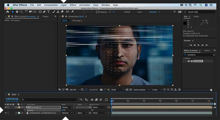 Glitch Effect in After Effects step 4.