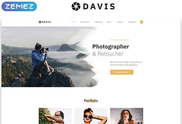 davis photographer website template
