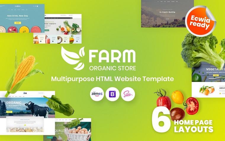 Farm - Organic Farm HTML5 Website Template.