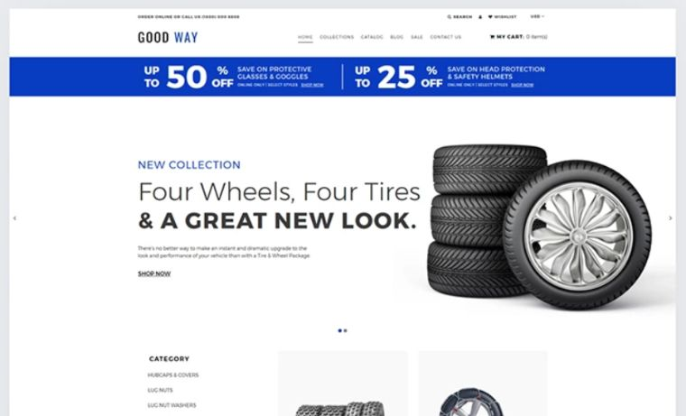 Good Way - Wheels & Tires eCommerce Clear Shopify Theme