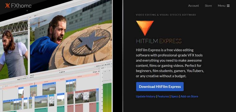 Hitfilm Express - darmowa alternatywa After Effects