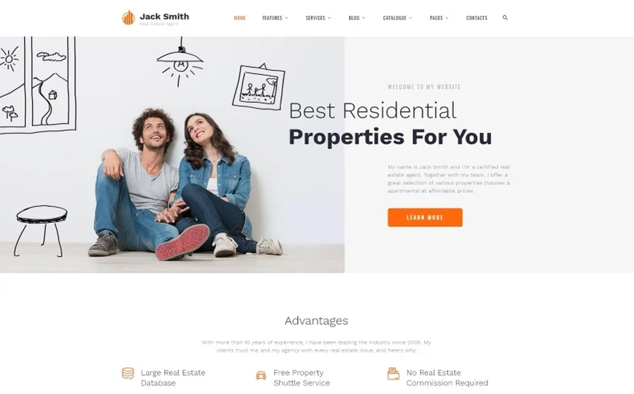 jack-smith-real-estate-multipage-clean-html-website-template