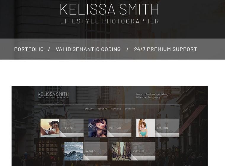 kelissa smith website theme