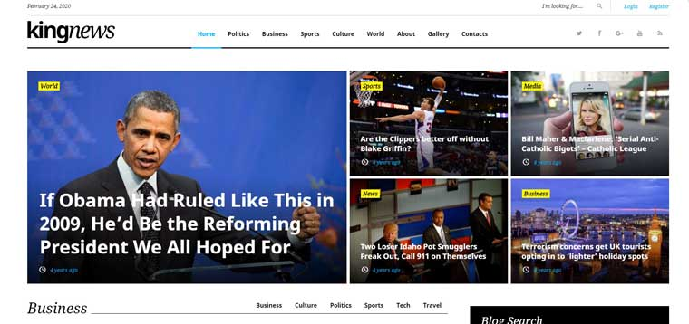 KingNews - Magazine News Portal & Blog WordPress Theme.