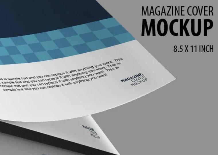 megaine cover mockup