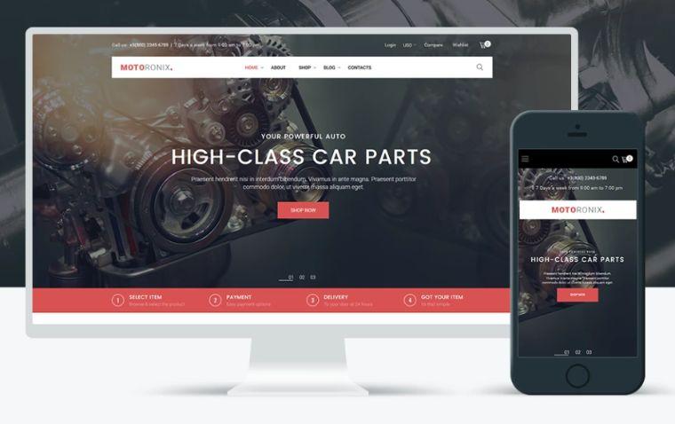 Motoronix - Car Parts WooCommerce Elementor WooCommerce Theme