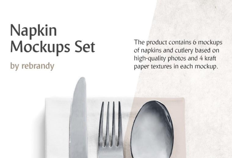 napkin set mockup