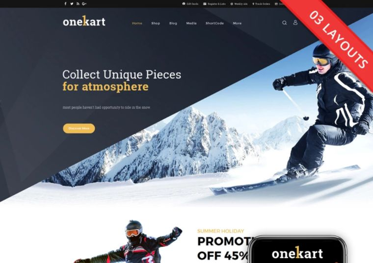 OneKart Multipurpose Store WooCommerce Theme
