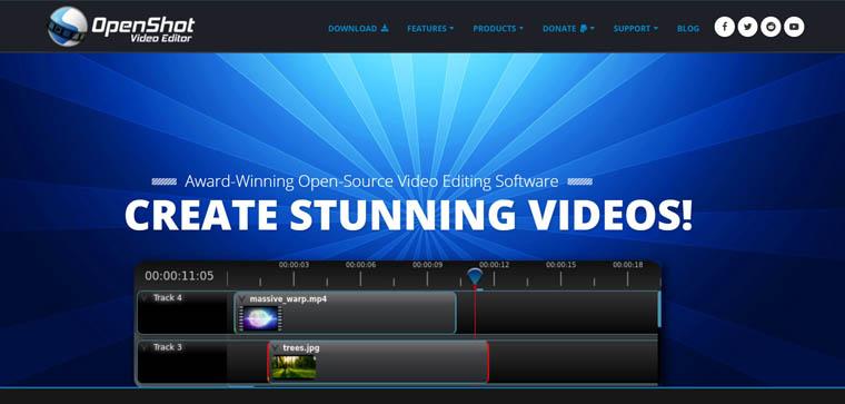 OpenShot Video Editor - darmowa alternatywa After Effects