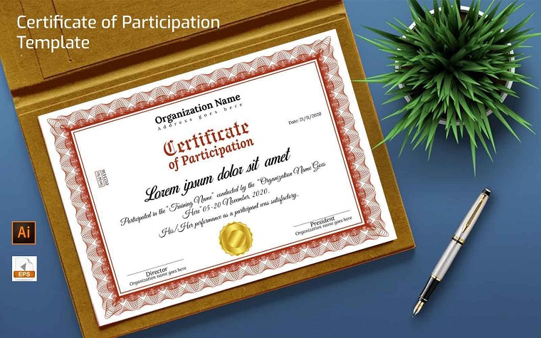 Participation Certificate Template.