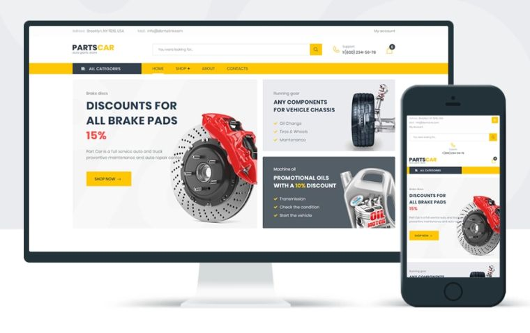 PartsCar – Car Repair Classic Elementor WooCommerce Theme