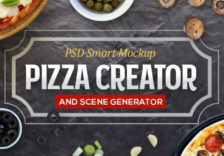 pizza creator mockup