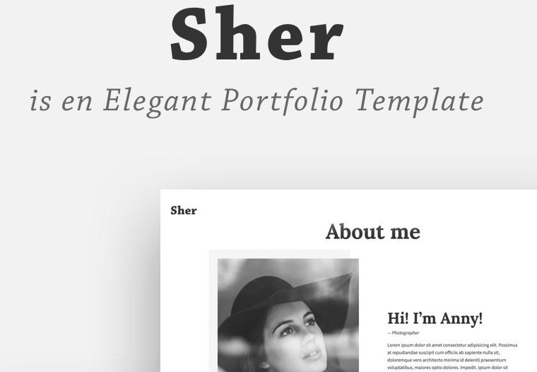 sher photographer portfolio theme