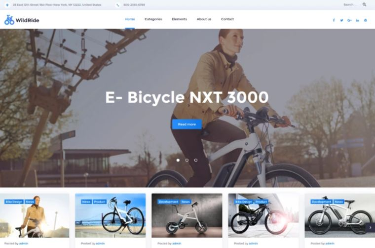 WildRide – Sports Bicycle WordPress Theme