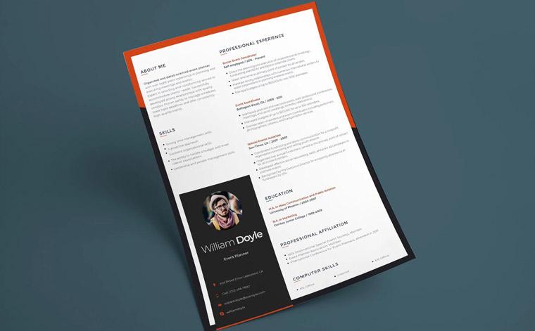 Wiliam Doyle - Event Manager Resume Template.